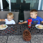 AJ and Evan having lunch